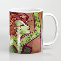 poison ivy Mugs featuring Poison Ivy  by Sako Tumi