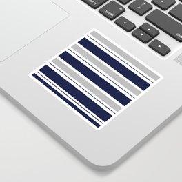 Navy Blue and Grey Stripe Sticker