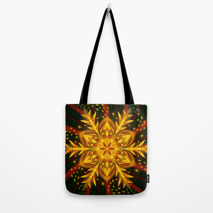 Forest Fire Flake Tote Bag
