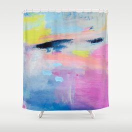 Dreamy Abstract pink Art  Shower Curtain