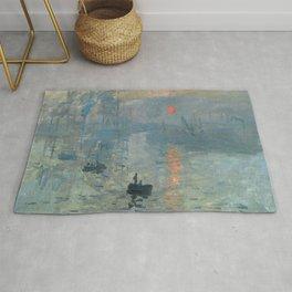 Claude Monet – Impression soleil levant – impression sunrise Rug