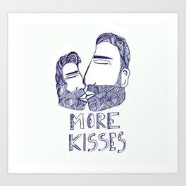 More kisses! Art Print