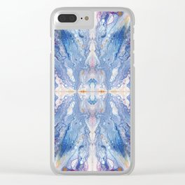 Colorful Water Splash Exotica by annmariescreations Clear iPhone Case