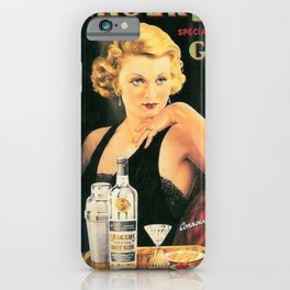 Seagers Special Dry Gin Alcoholic Cocktails Vintage Advertisement Poster iPhone Case