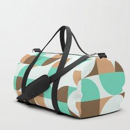 Mint and Chocolate Fresh Pattern Duffle Bag