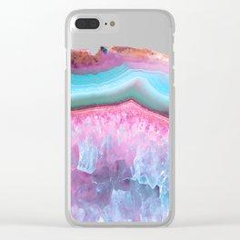 Rose Quartz and Serenity Agate Clear iPhone Case