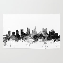 Columbus Ohio Skyline Rug
