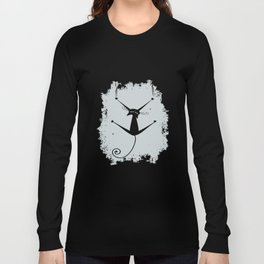 Womens Girls Ladies Soft Style Vest Goth Grunge Kitty Sliding son T-Shirts Long Sleeve T-shirt