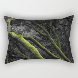 Mossy Bay Trees in Selective Black and White Rectangular Pillow