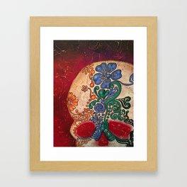 SUGAR SKULL Dia de los Muertos Framed Art Print