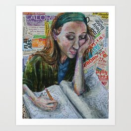 Diary Girl Art Print