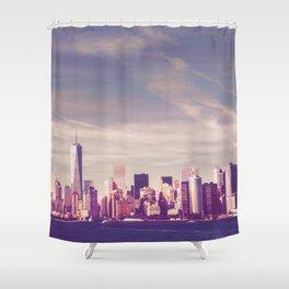 New York City Skyline Waterfront Shower Curtain