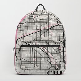 Chicago - Illinois Neapolitan City Map Backpack