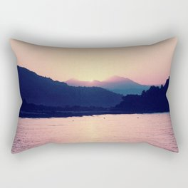 Romantic Pastel Pink Sunset #1 #art #society6 Rectangular Pillow