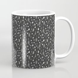 Watercolor Dots, Black Coffee Mug