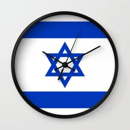 Flag of the State of Israel - High Quality Image Wall Clock
