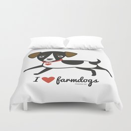 I love farmdogs Duvet Cover