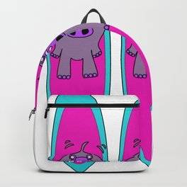 Three Hippos Surfing Backpack