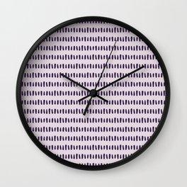 Bold Pattern Purple Wall Clock