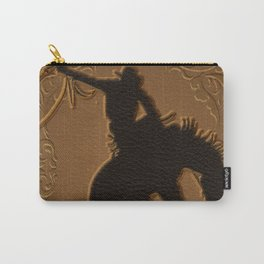 Leather Rodeo Cowboy Carry-All Pouch