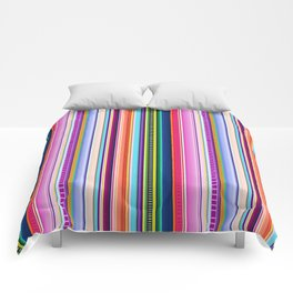 Mexican Serape Inspired Colorful Stripe Summer Fabric Comforters