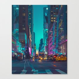 Cyber Times Sq Canvas Print
