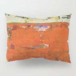 Roadrunner Bright Orange Abstract Colorful Art Painting Pillow Sham