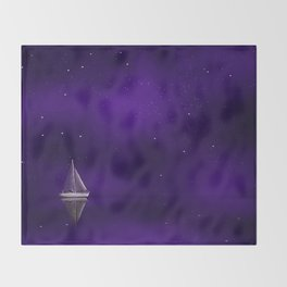 Purple Ship Throw Blanket
