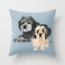 Wally and Junior Throw Pillow