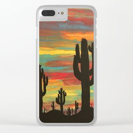 dark thoughts Clear iPhone Case
