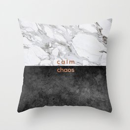 Calm Chaos, Typography Throw Pillow