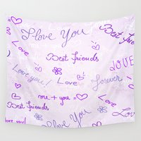 best friends Wall Tapestries featuring Best Friends by Fine2art