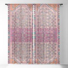 Traditional Moroccan Berber Artwork Design E17 Sheer Curtain