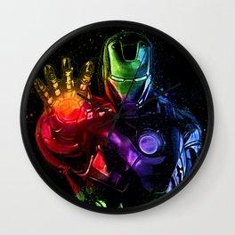 Avenger Infinity Wars Iron Man Abstract Painting - Iron Man Graffiti Wall Clock