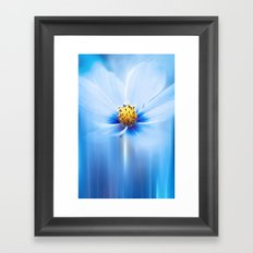 MIDNIGHT BLUE Framed Art Print