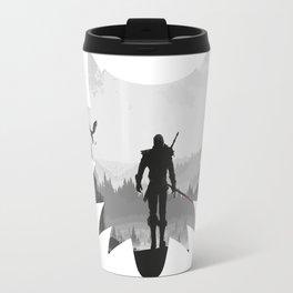 The white wolf Travel Mug