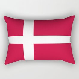 The flag of danmark Rectangular Pillow