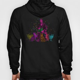 Preposterous Presidents - Lincoln - Rainbow Cat Party Hoody