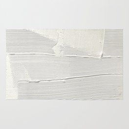 Relief [1]: an abstract, textured piece in white by Alyssa Hamilton Art Rug