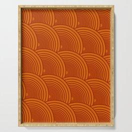 Arches - Orange & Terracotta Serving Tray