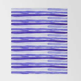 Ultra Violet Watercolour Stripes Throw Blanket