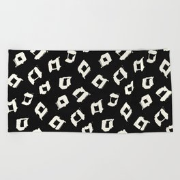 Tribal Square Dots Beach Towel
