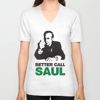 better call saul V-neck T-shirts featuring Better Call Saul by Harry Martin