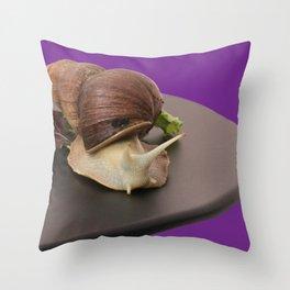 Giant african land snail Throw Pillow
