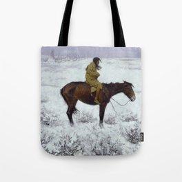 "Frederic Remington Western Art ""The Herd Boy"" Tote Bag"
