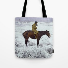 "Frederic Remington Western Art ""The Herd Boy"" Tote Bag"