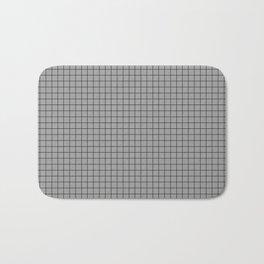 Grey Grid Black Line Bath Mat