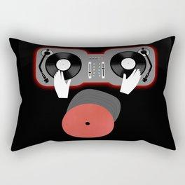 Red DJ Rectangular Pillow