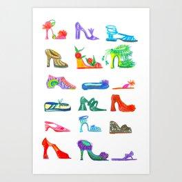 FENG SHOE Art Print