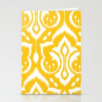 damask Stationery Cards featuring Ikat Damask by Patty Sloniger